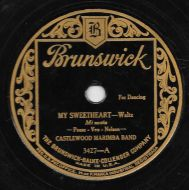 Castlewood Marimba Band - My Sweetheart / Bells Of Hawaii (Shellac;10