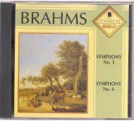 Johannes Brahms - Symphony No. 3 / Symphony No. 4 (CD)