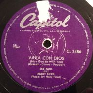 Les Paul & Mary Ford - Vaya Con Dios (May God Be With You) (Shellac;10